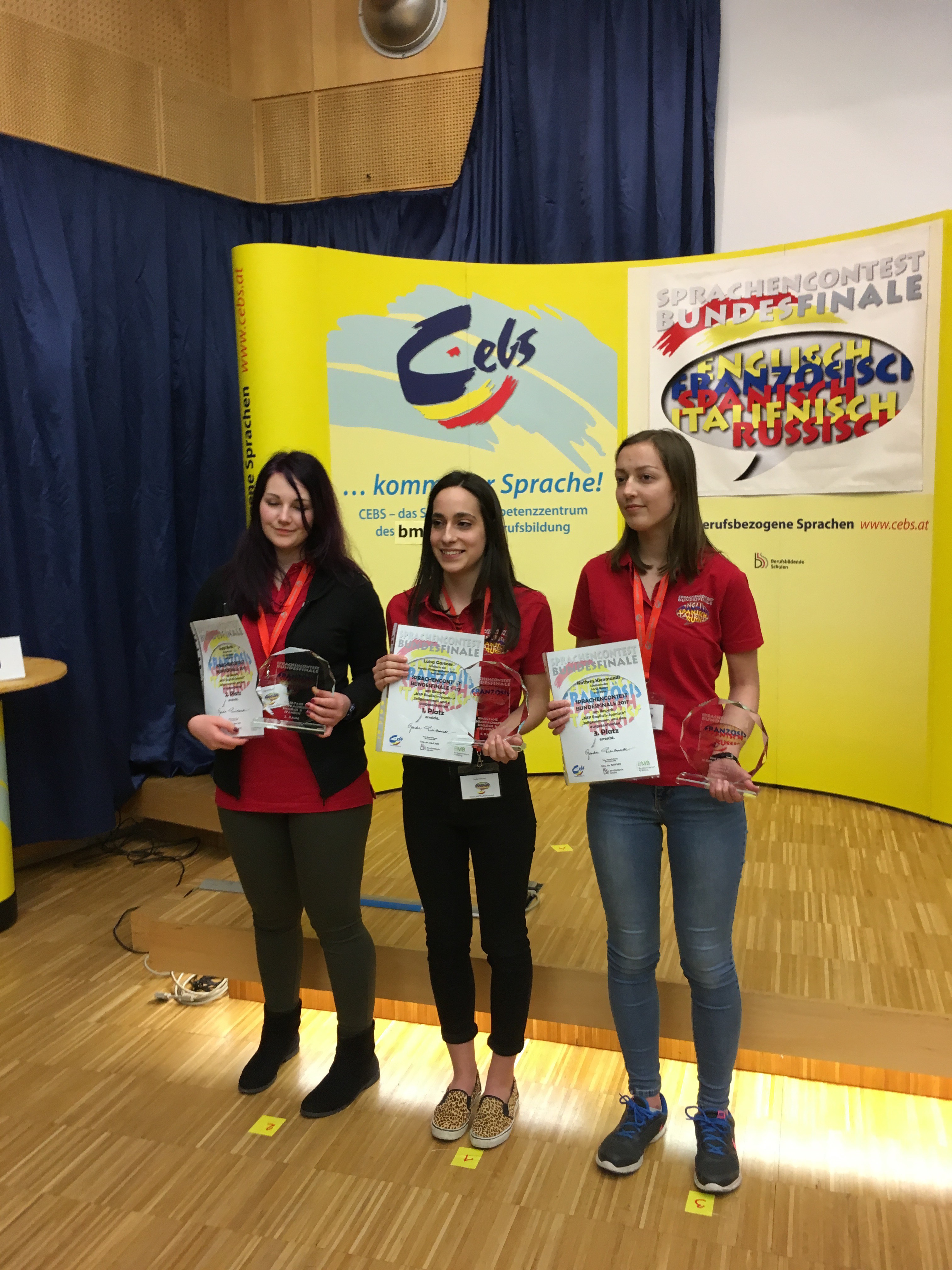 Luisa Gartner hat den FS-Wettbewerb in Linz in der Kategorie E/Sp gewonnen
