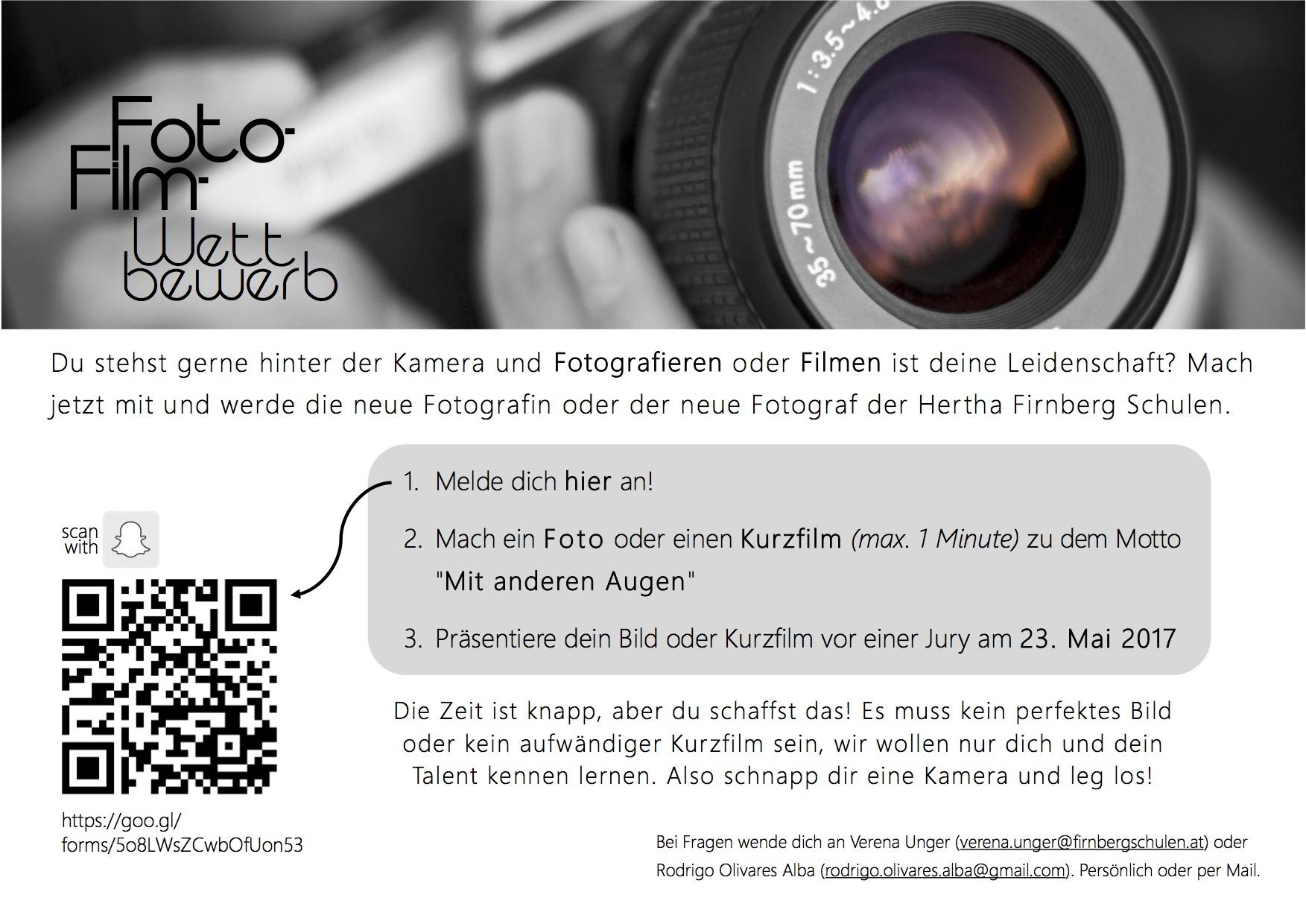 FOTO- & FILM-TALENTE GESUCHT !!