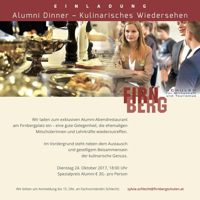 Einladung zum Alumni-Dinner!