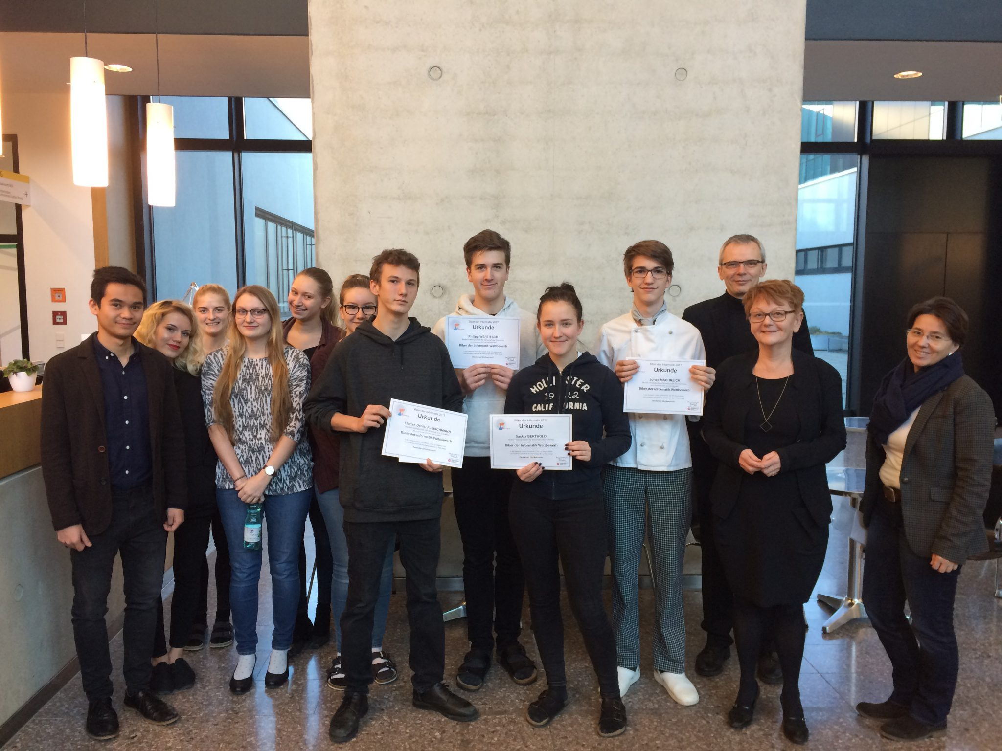 """Top-Ergebnisse bei Wettbewerb """"Biber der Informatik 2017"""""""
