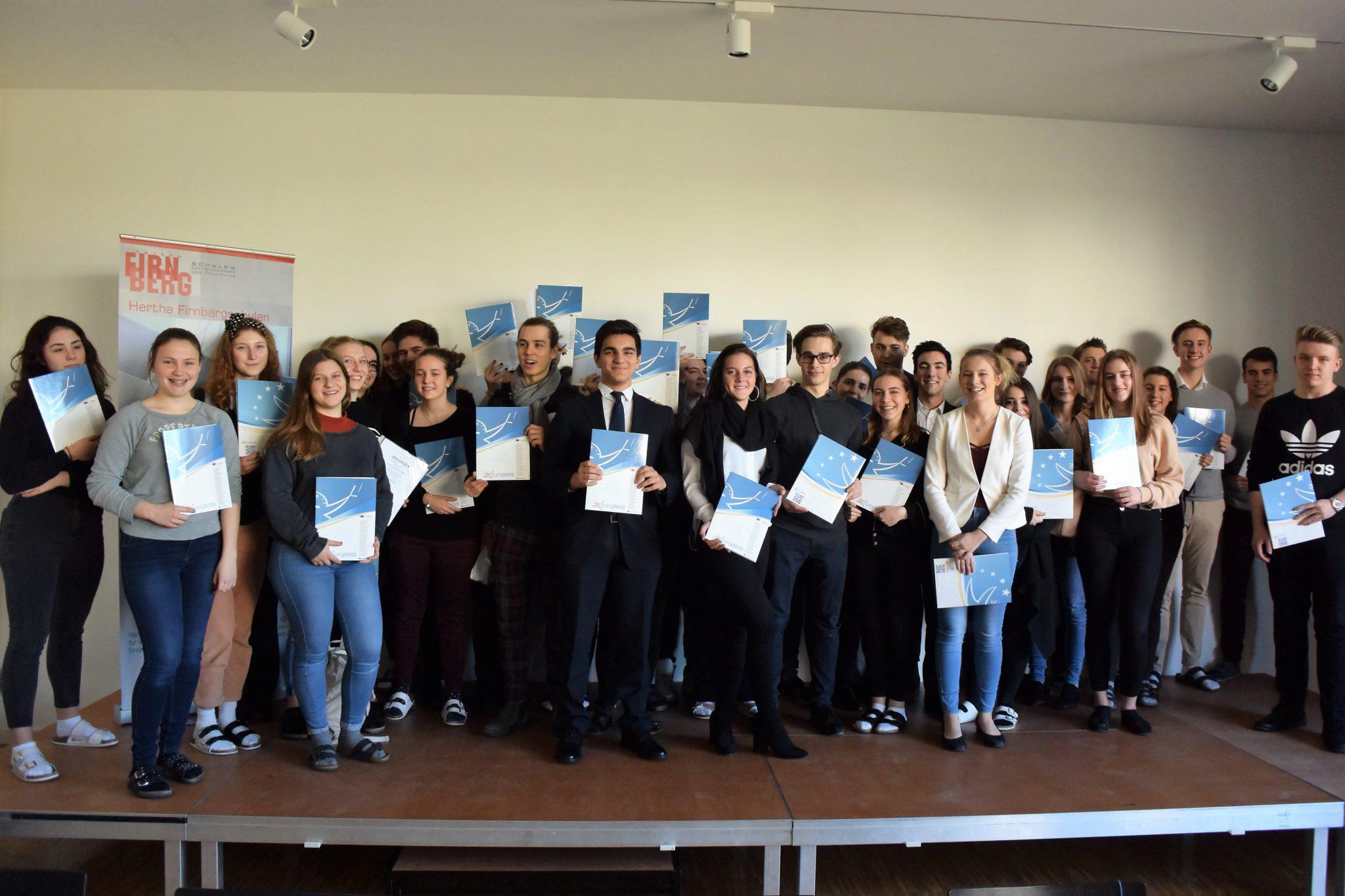 SchülerInnen-Mobilität an den Hertha Firnberg Schulen: Erasmus+ Europass Übergabe