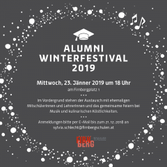 Save the date: Alumni Winterfestival 2019