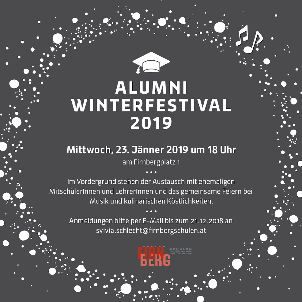 Save the date: Alumni Winterfestival 2019
