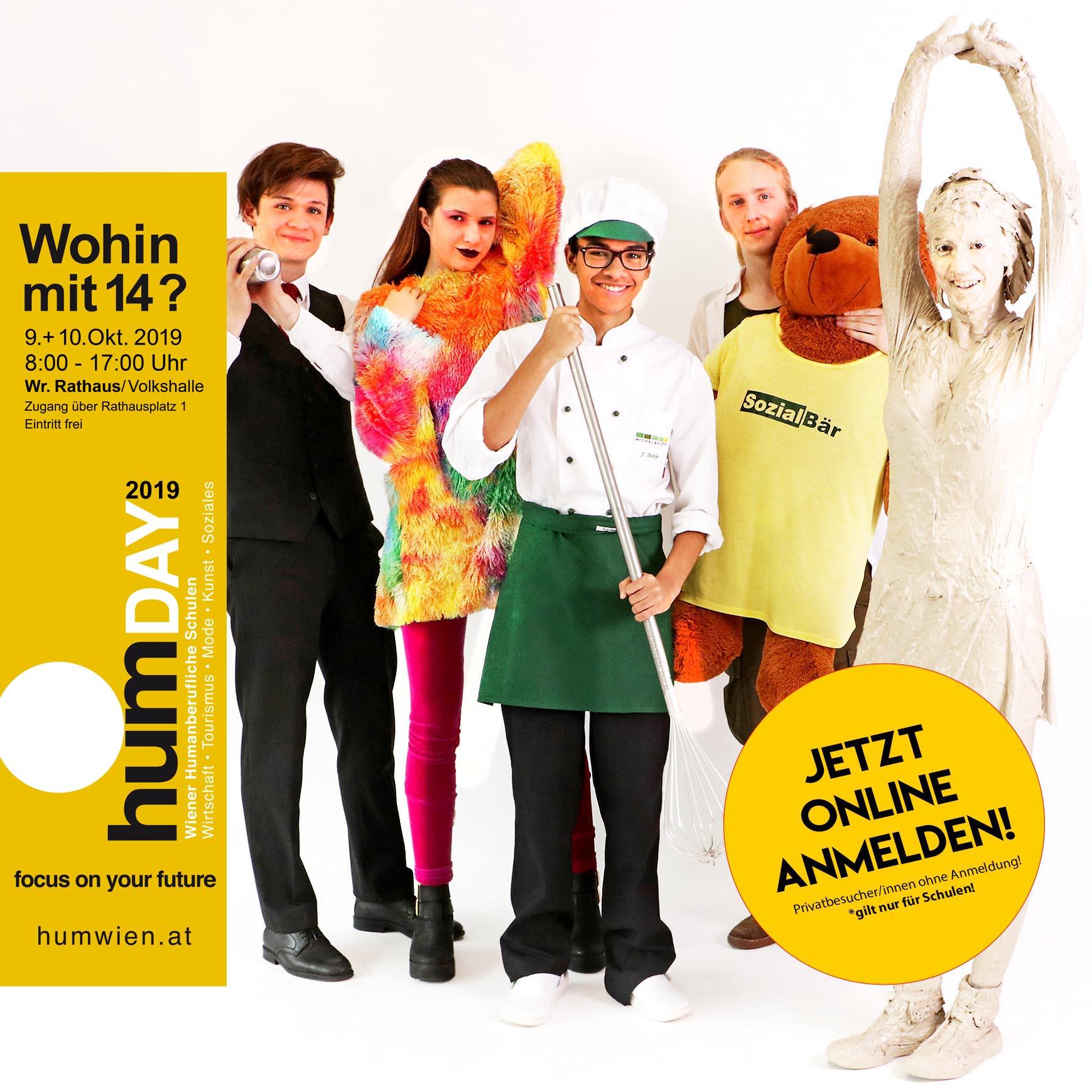 24 Schulen der Vielfalt im Wiener Rathaus – humDAY 2019 am 9. und 10. Oktober 2019